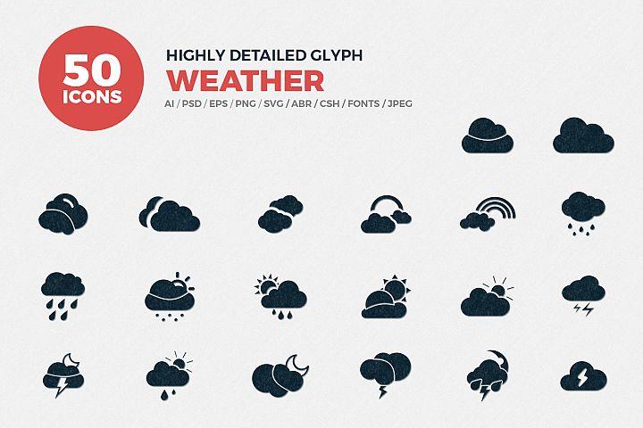 Glyph Weather Icons Set