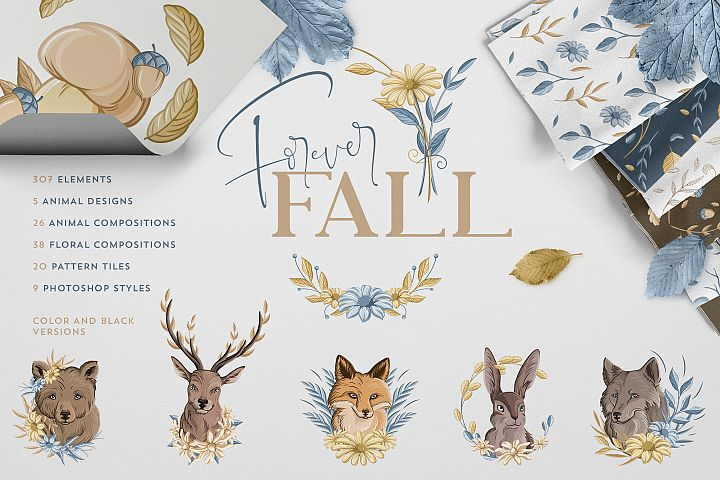 Forever Fall Graphics | 500 objects