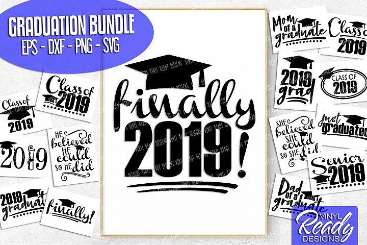 Graduation Bundle 2019- 15 designs - Vector Clip Art Files