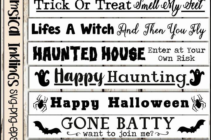 Halloween Sign SVG Bundle