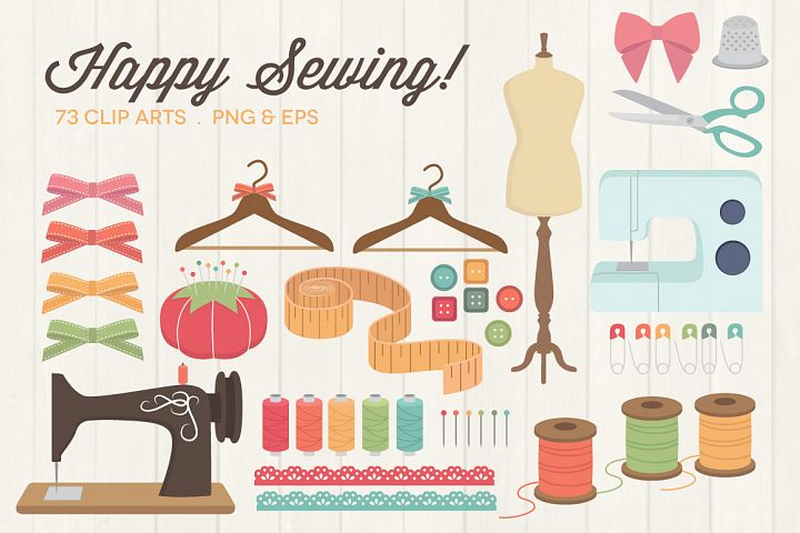 Happy Sewing Clipart