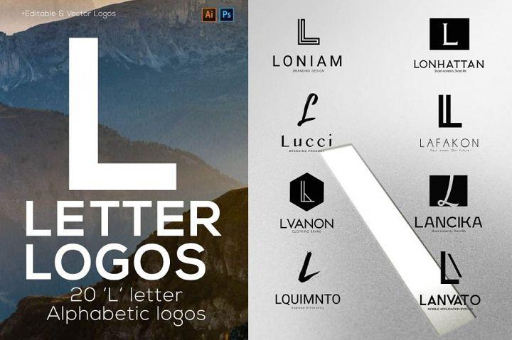 L Letter Alphabetic Logos