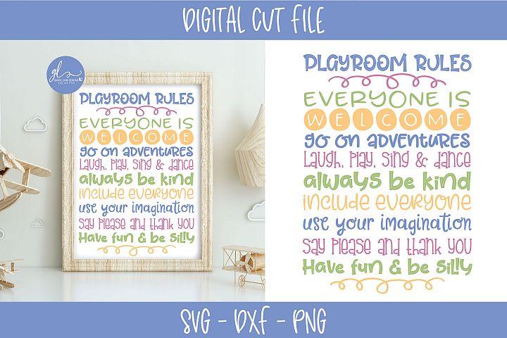 Playroom Rules - SVG Cut File