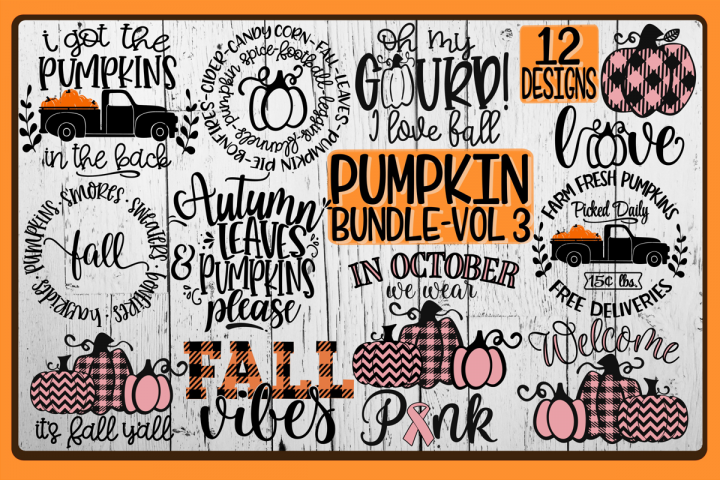 PUMPKIN Bundle - Vol 2 - 12 Designs Included