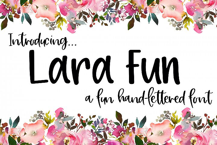 Lara Fun Font - A Fun Hand-Lettered Font