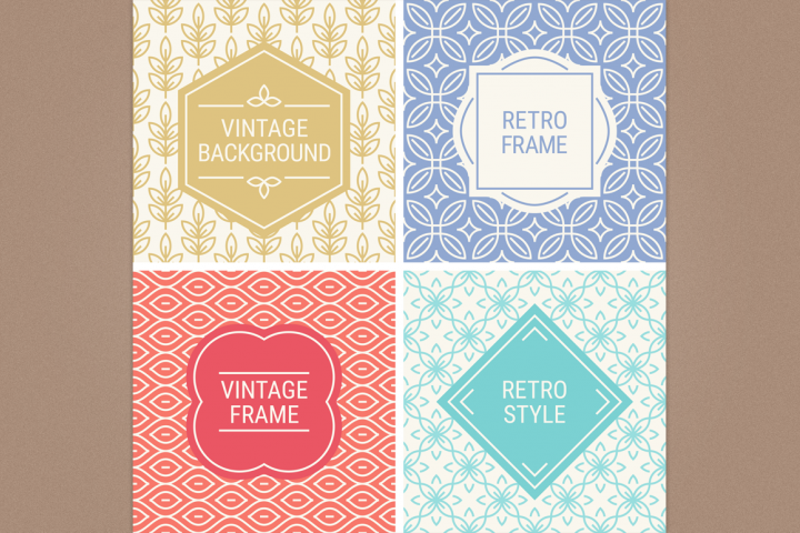 Mono Line Frames and Patterns - Set 18