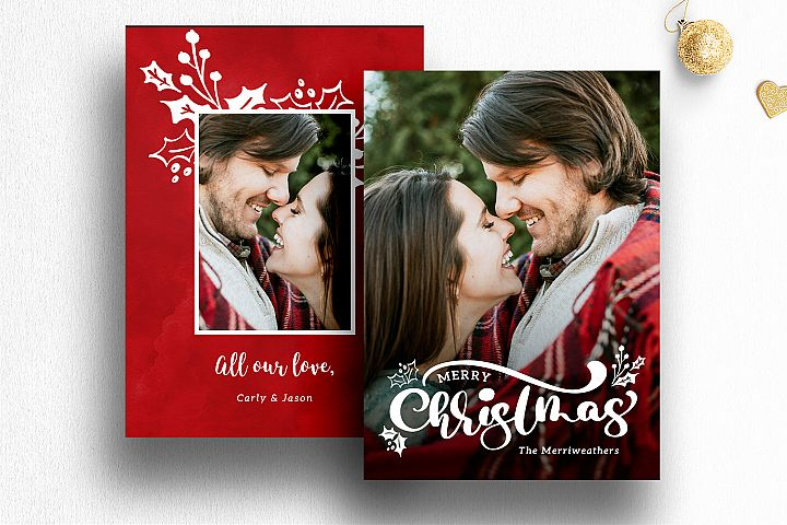 Christmas Photo Card Template Photoshop| 013