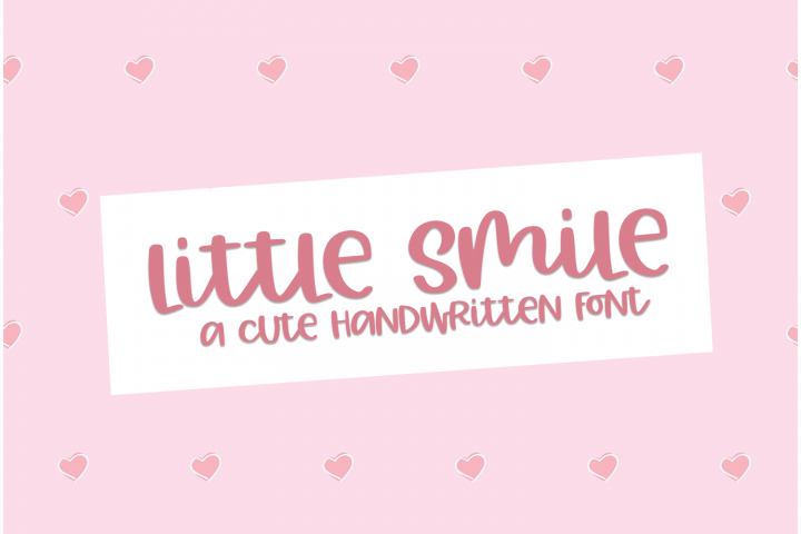 Little Smile - A Cute Hand-Written Font
