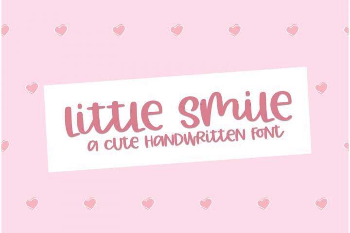 Little Smile - A Cute Hand-Written Font