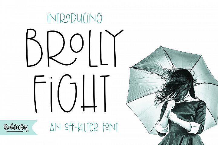Brolly Fight, an off kilter font - Free Font of The Week Font