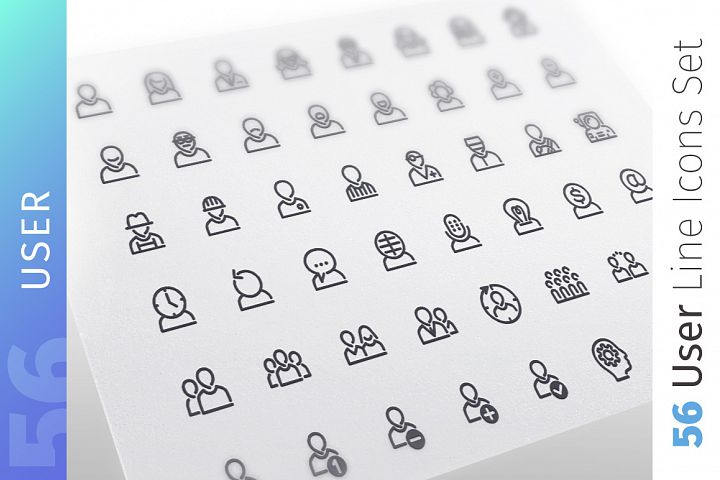User Line Icons Set