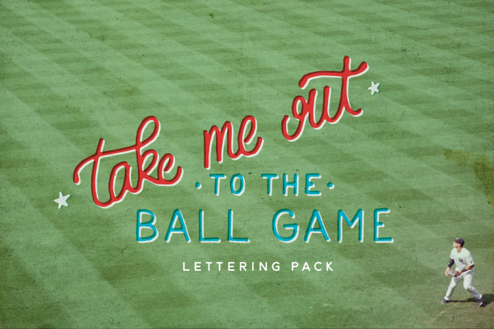 Take Me Out to the Ballgame - Baseball Lettering