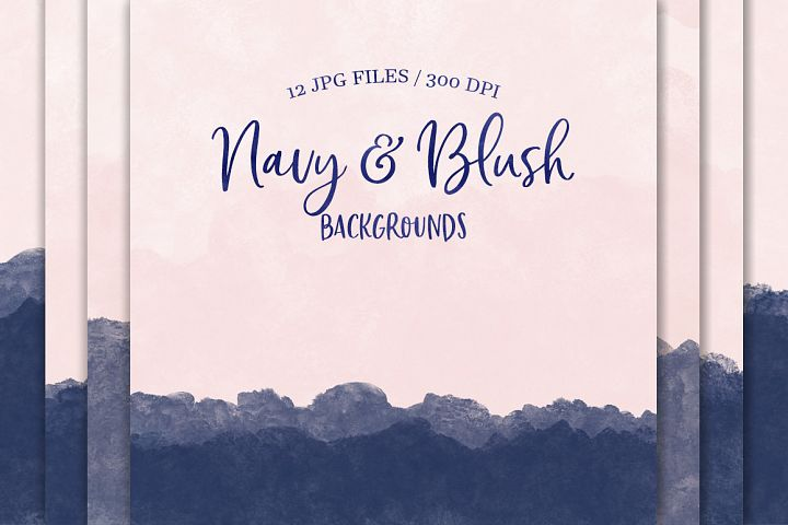 Navy & Blush Backgrounds