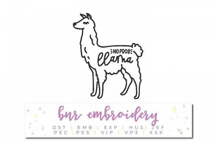No Prob Llama Machine Embroidery Design