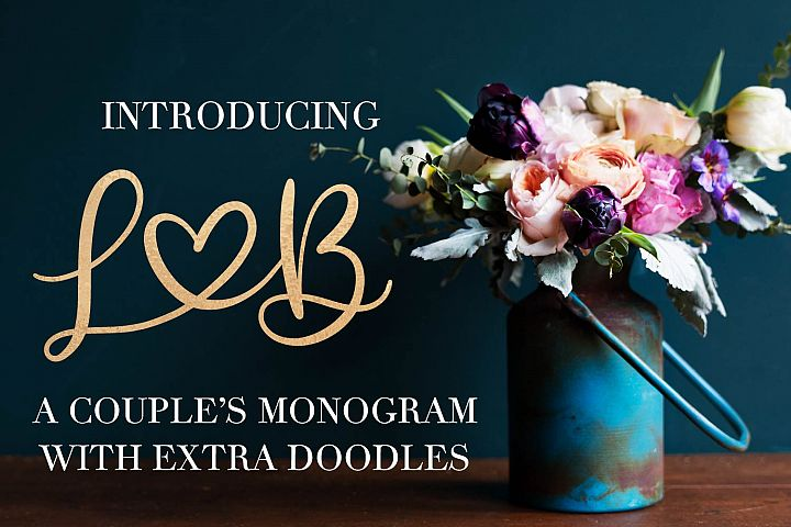 A Couples Monogram & Doodle Extras