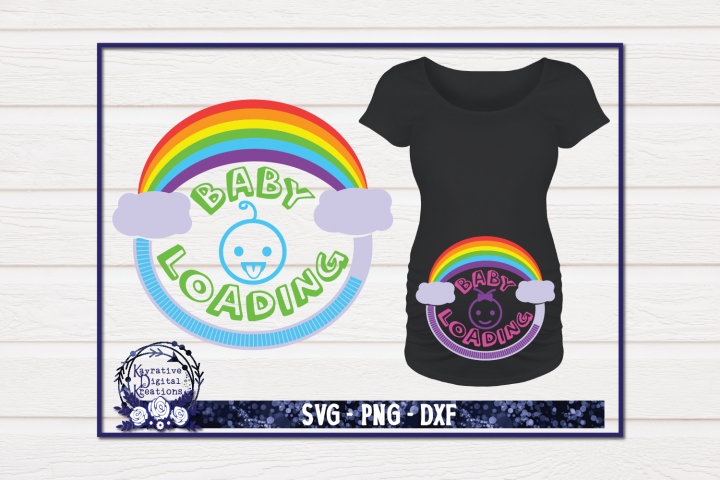 Rainbow Baby Shirt - Pregnancy Shirt SVG