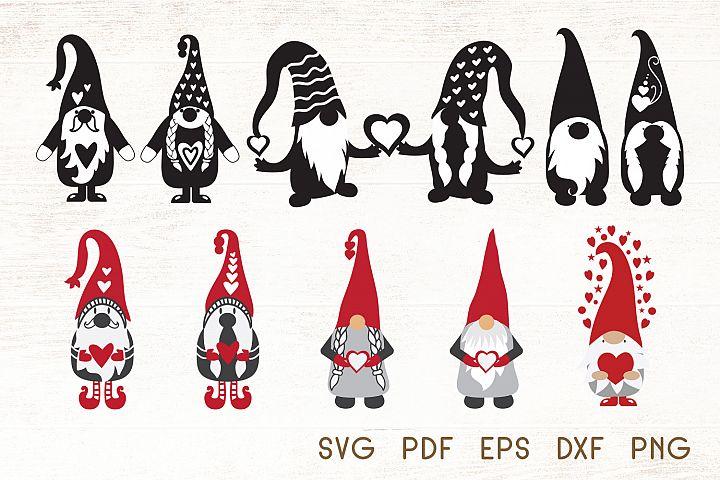 Valentines Gnomes SVG - Vector