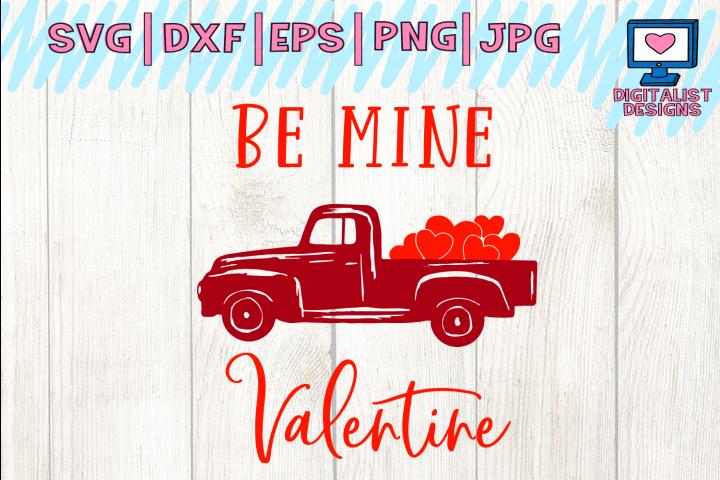 be mine valentine svg, truck svg, valentines day svg