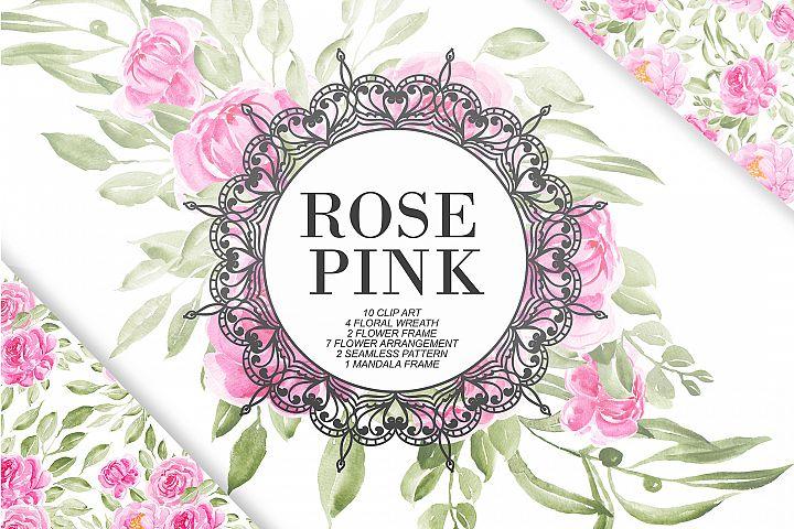 Sweet Rose Pink Watercolor Set