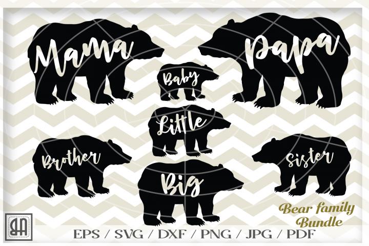 Bear family SVG - Bear svg - Bear family bundle svg