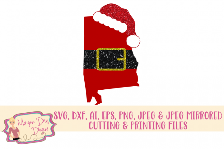 Alabama Santa SVG, DXF, AI, EPS, PNG, JPEG