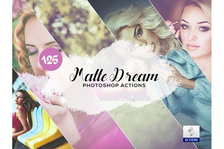 125 Matte Dream Photoshop Actions