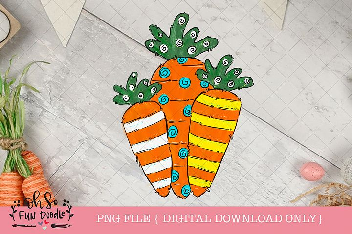 Easter carrot, Sublimation design