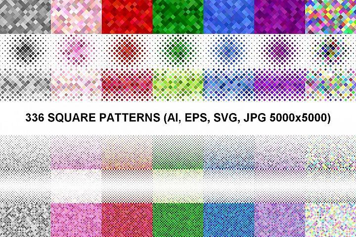 336 Square Patterns AI, EPS, SVG, JPG 5000x5000