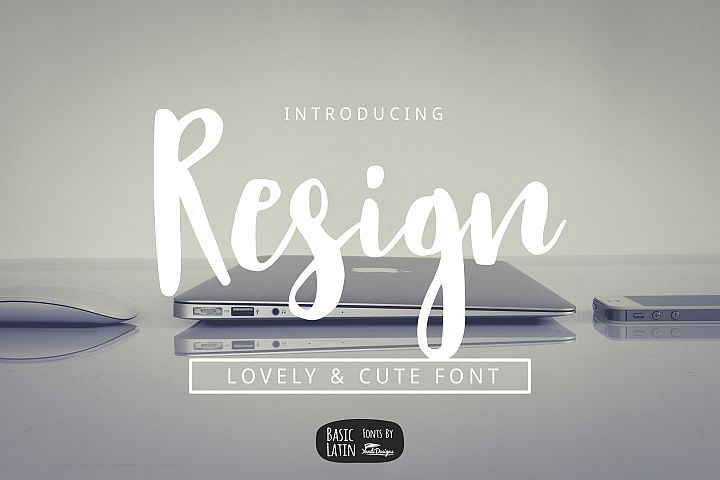Resign Modern Brush Font