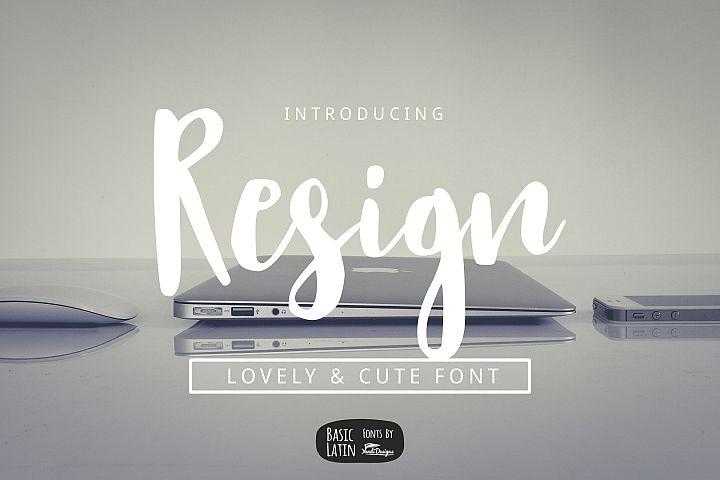Resign Modern Brush Font