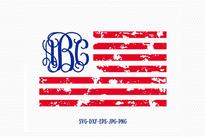 American flag distressed svg, usa monogram flag svg, Fourth of July SVG, 4th of July Svg, Patriotic SVG, Cricut, Silhouette Cut File svg dxf
