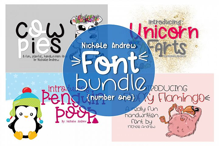 Four Fun Font Bundle