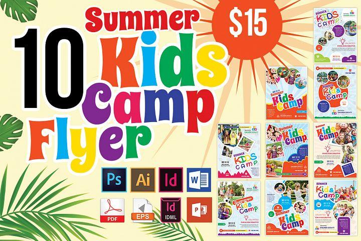 10 Kids Summer Camp Flyers Bundle