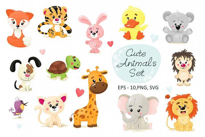 Cute animal set
