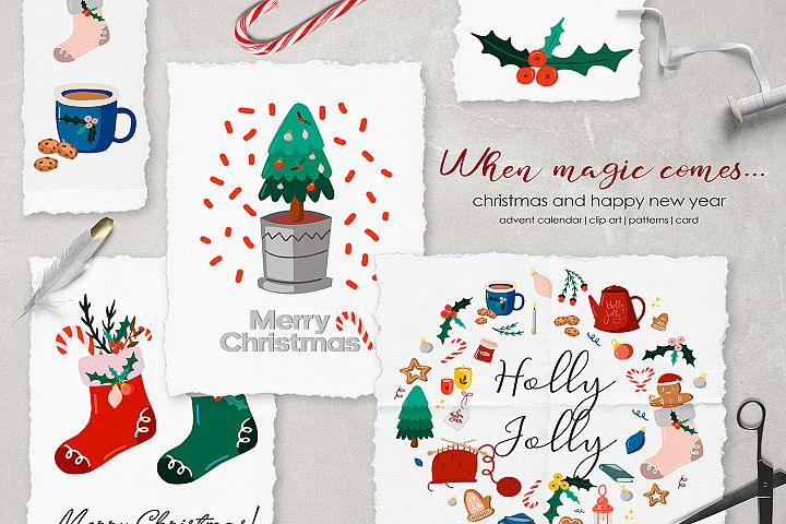 When magic comes.. Christmas clipart