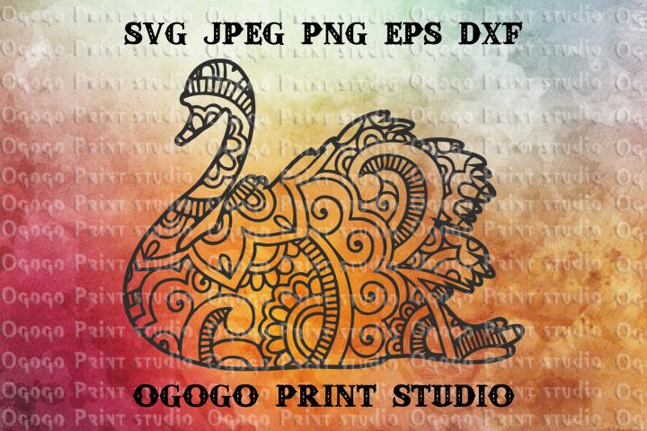 Swan SVG, Zentangle SVG, Mandala svg, Wedding svg, Bird svg