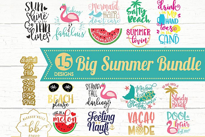 Summer SVG / Summer Bundle SVG / SVG DXF EPS PNG