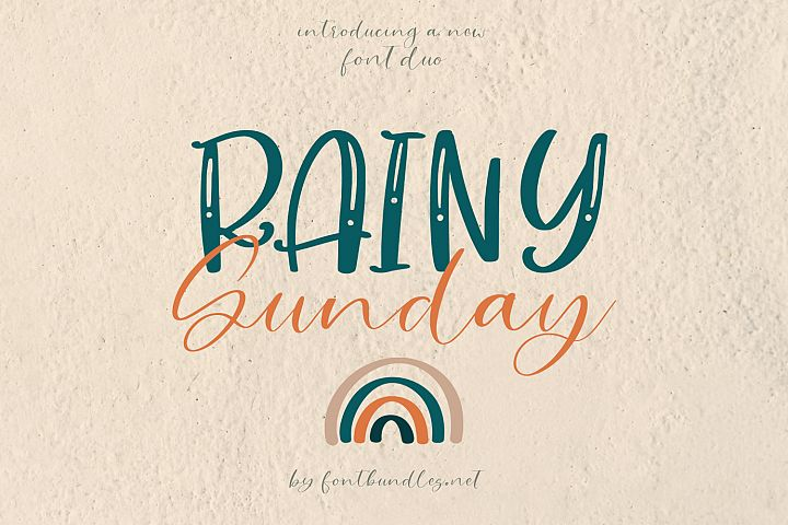 Rainy Sunday Font Duo