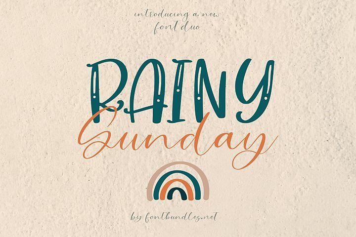Rainy Sunday Font Duo