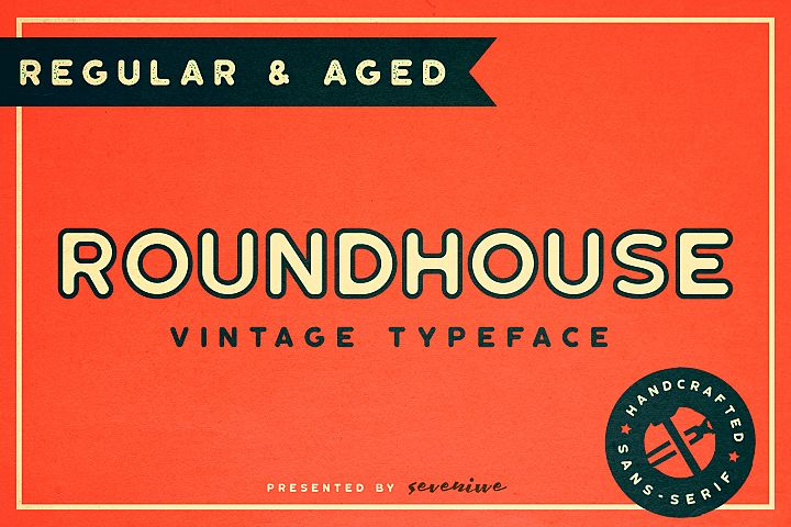 Roundhouse - Rounded Vintage Typeface