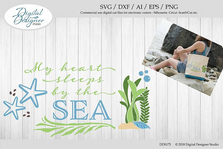 My Heart Sleeps By The Sea SVG EPS DXF PNG AI Cut File