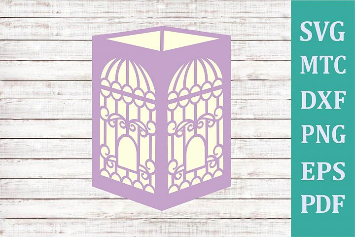 3D Paper Lantern Style #05 Bird Cage Design #09 Party Decor