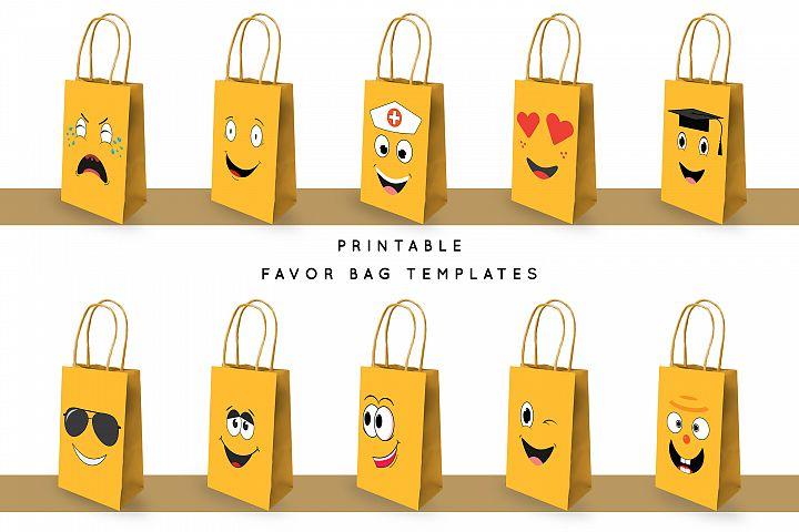 Emoji Favor Bag Template PDF | PNG | JPEG