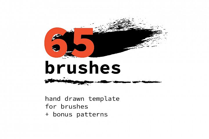 65 template for brushes + 6 seamless patterns