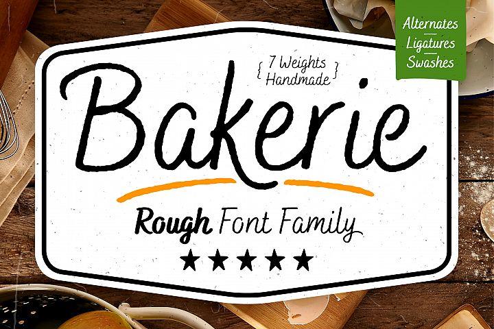 Bakerie Rough Font Family