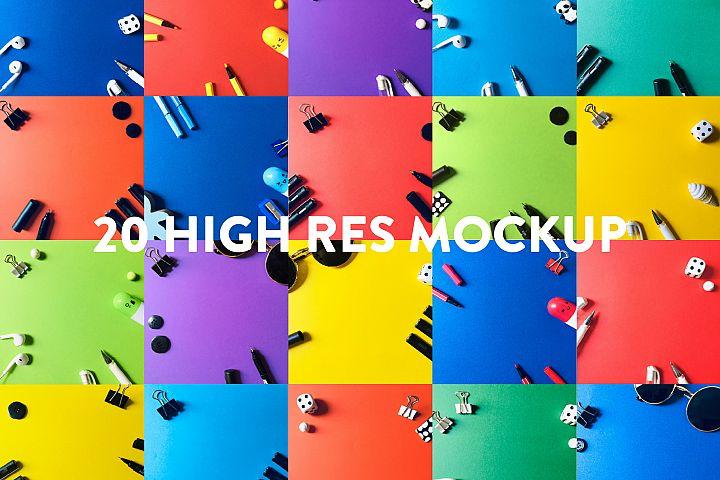 Colorful Mockup Bundle