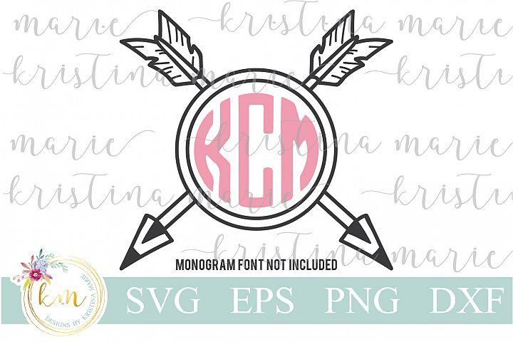 Arrow Monogram Frame Cut File Set