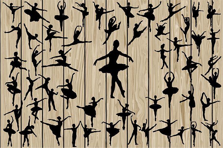 50 Ballet SVG, Ballet silhouette Clipart, ballerina Svg, Ballerina Dxf, Ballerina Eps, Ballet Svg, Dancer Svg, Ballerina Silouette Clipart.