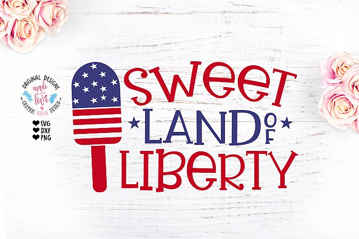 Sweet Land of Freedom Popsicle Design