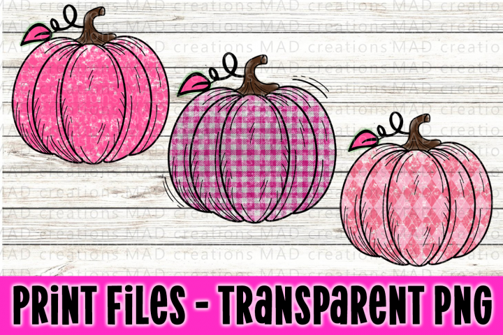 Add Your Own Text - Pink Pumpkin Bundle - Breast Cancer